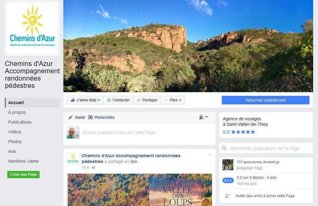 Notre page Facebook sur la randonnée autour de la Côte d'Azur